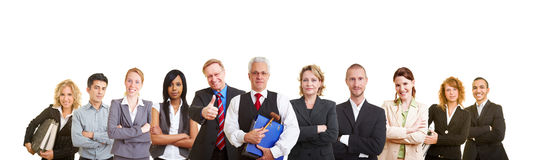 Big team of lawyers royalty free stock images