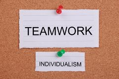 Big Teamwork and Small Individualism Royalty Free Stock Photography