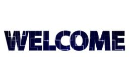 Big tech sign WELCOME Royalty Free Stock Photos
