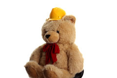 Big teddy builder bear Stock Photography