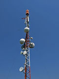 Big Telecommunication tower with antennas Stock Images