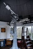 Big telescope under dome of astronomic observatory. S s s Royalty Free Stock Photo