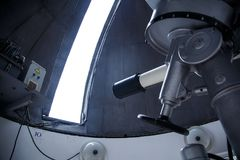 Big telescope under dome of astronomic observatory. S s s Stock Photography