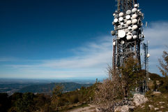 Big television tower Stock Photo