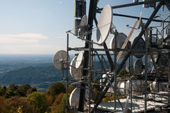 Big television tower Stock Images