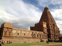 Big Temple. The architectural marvel of Brihdeshwarar temple, Tanjore royalty free stock photography