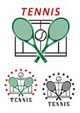 Big tennis emblems or badges Royalty Free Stock Photo