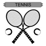 Big tennis rackets with tennis ball Stock Image
