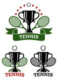 Big tennis sporting emblems Royalty Free Stock Image