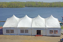 Big tent by the river Royalty Free Stock Photography