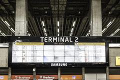 Big Termianl at the International Guarulhos Airport in Sao Paulo, Brazil Royalty Free Stock Images
