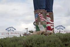 Big Tex boots at Fair Park Dallas. Big Tex boots at State Fair Texas , Fair Park of city Dallas USA 2017 Stock Photos