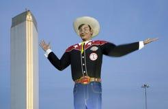 Big Tex  on Fair Park night. Big Tex on Fair Park night, State Fair of Texas city Dallas USA Stock Photo