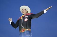 Big Tex at Fair Park night. Big Tex on Fair Park night, State Fair of Texas city Dallas USA Royalty Free Stock Photos