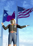 Big Tex and flags, Texas state Fair Royalty Free Stock Photos