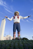 Big Tex (new 2013). The new  Big Tex replaces the statue that was destroyed by fire (October 19, 2012). The new statue was unveiling, September 27, 2013 and is a Stock Photography