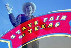 Big Tex and State Fair of Texas sign Royalty Free Stock Photo