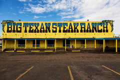 Big Texan Steak Ranch. AMARILLO, TEXAS - 17 JANUARY: The Big Texan Steak Ranch is a famous roadside restaurant, attraction, and landmark in Amarillo. Originally Royalty Free Stock Photo