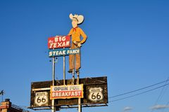 Big Texan Steak Ranch, famous steakhouse restaurant Royalty Free Stock Image
