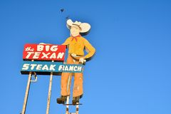 Big Texan Steak Ranch, famous steakhouse restaurant. AMARILLO, TEXAS - JULY 20: Big Texan Steak Ranch, famous steakhouse restaurant and motel located in Amarillo Royalty Free Stock Photography