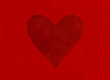 Big textured red heart. Valentine's day symbol Stock Images