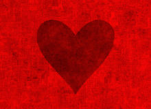 Big textured red heart. Valentine's day symbol Stock Photos