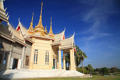 Big Thai temple landmark in Nakhon Ratchasima or Korat Royalty Free Stock Image