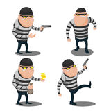 Big Thief Steal Cartoon Character Vector Royalty Free Stock Photos