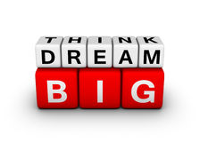 Big think big dream Royalty Free Stock Photography