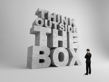 Big think outside the box Royalty Free Stock Photo