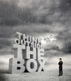 Big think outside the box Stock Photos