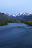 Big Thompson River Flows through Moraine Park Stock Photos