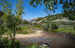 The Big Thompson River in Rocky Mountain National Park Royalty Free Stock Photos
