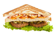 Big three-cornered sandwich Royalty Free Stock Photo