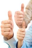 Big thumbs Stock Photography
