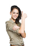 Big thumbs up. Royalty Free Stock Images