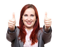 Big thumbs up for business Royalty Free Stock Images