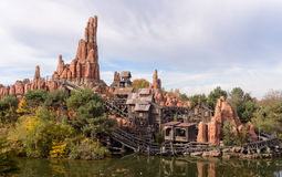 Big Thunder Mountain Frontier lands Stock Photography