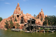Big Thunder Mountain Railroad Stock Photo