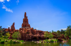 Big Thunder Mountain Roller Coaster in Disneyland Paris. Stock Photo