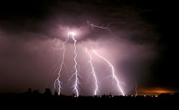 big thunderbolt Στοκ Εικόνες