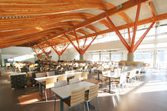 Big Timber. A stunning new cafeteria in a university in Squamish, BC, Canada Royalty Free Stock Image