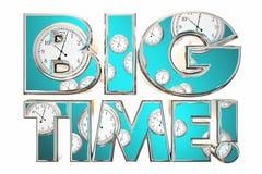 Big Time Huge Deal News Clocks Words Stock Images