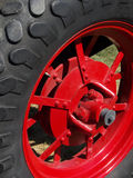 Big Tire. Tire, wheel and brake assembly on large farm and ranch implement stock photos