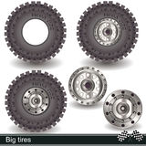 Big tires Stock Photo