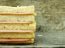 Big toast with ham and cheese Stock Photos