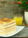 Big toast with ham and cheese Royalty Free Stock Photos