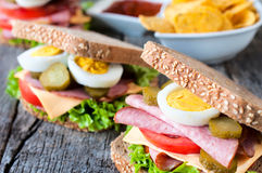 Big toast sandwich Stock Images