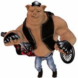 Big Toon Pig Stock Photos