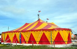Big Top. Circus Tent With American Flags Flying Stock Image